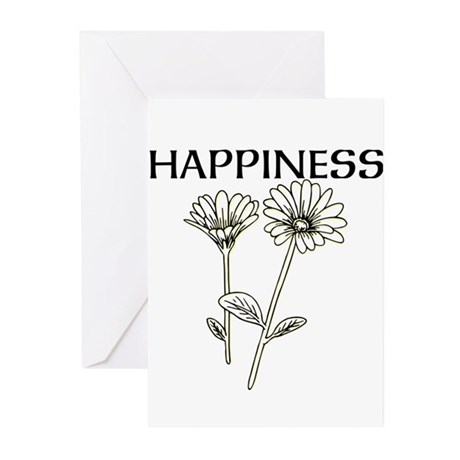 OYOOS Happiness design Greeting Cards (Pk of 10)