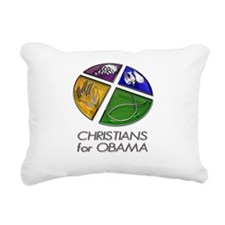 Christians for Obama Rectangular Canvas Pillow