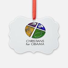 Christians for Obama Ornament
