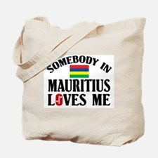 Somebody In Mauritius Tote Bag