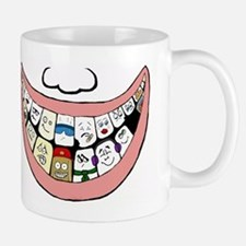 Behind a smile Small Mugs