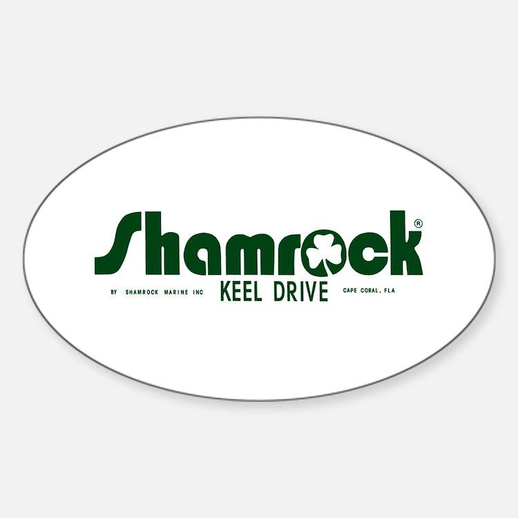 SHAMROCK LOGO 1 GREEN Decal