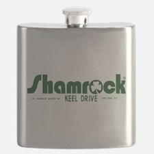 SHAMROCK LOGO 1 GREEN Flask