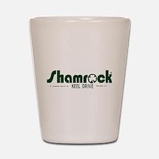 SHAMROCK LOGO 1 GREEN Shot Glass