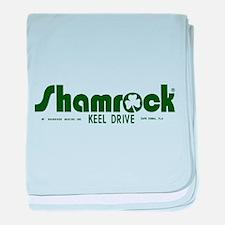 SHAMROCK LOGO 1 GREEN baby blanket