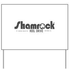 SHAMROCK LOGO 1 GRAY Yard Sign