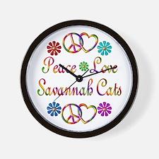 Savannah Cats Wall Clock