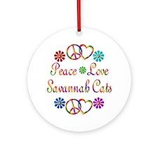 Savannah Cats Ornament (Round)