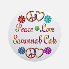 Savannah Cats Ornament (Round)