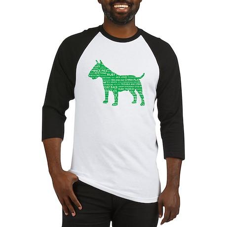 Vintage London Slang Bull Terrier Green Baseball J