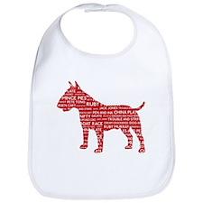 Vintage London Slang Bull Terrier Red Bib