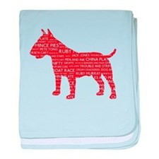 Vintage London Slang Bull Terrier Red baby blanket