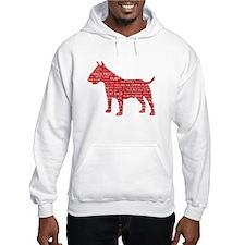 Vintage London Slang Bull Terrier Red Jumper Hoody