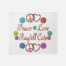 Ragdoll Cats Throw Blanket