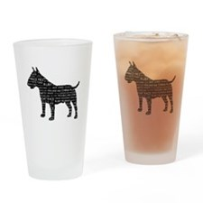 Vintage London Slang Bull Terrier Black Drinking G