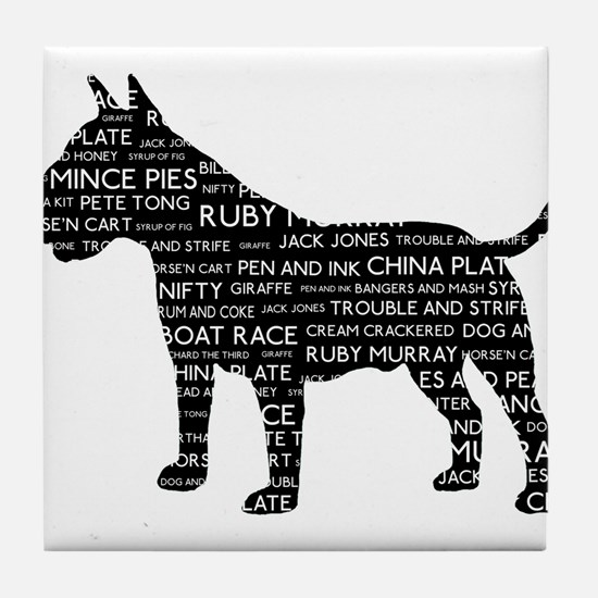 Vintage London Slang Bull Terrier Black Tile Coast
