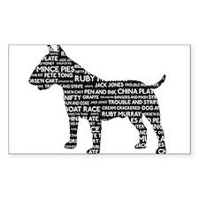 Vintage London Slang Bull Terrier Black Decal