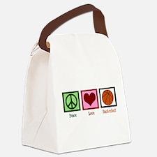 Peace Love Basketball Canvas Lunch Bag