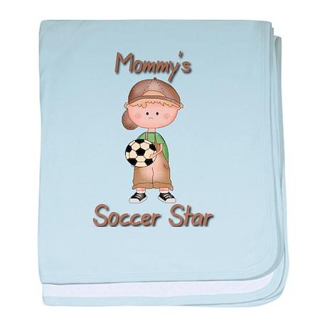 Mommys Soccer Star baby blanket