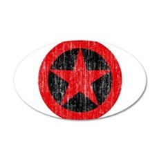 Albania Roundel 35x21 Oval Wall Decal