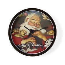 Merry Christmas Santa Clause Wall Clock