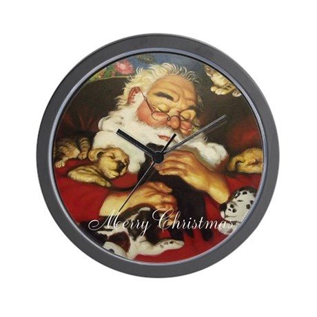 Merry Christmas Santa Clause Wall Clock
