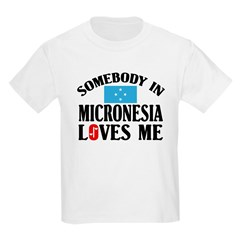 Somebody In Micronesia Kids T-Shirt