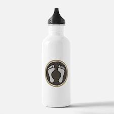 Cute Earthtone Feet Emblem Water Bottle