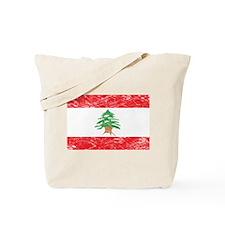 Vintage Lebanon Flag Tote Bag