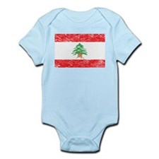 Vintage Lebanon Flag Infant Creeper