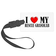 Rescue Grandlab Luggage Tag