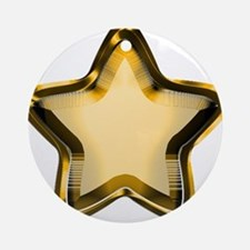 Gold Star Ornament (Round)