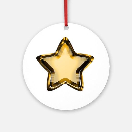 Gold Star Ornament (Round)