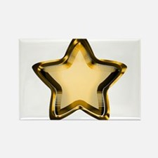 Gold Star Rectangle Magnet