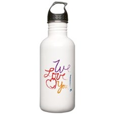 We Love You Water Bottle