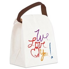 We Love You Canvas Lunch Bag