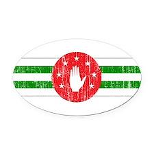 Abkhazia Roundel Oval Car Magnet