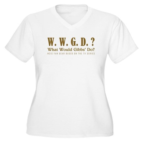 WWGD? Women's Plus Size V-Neck T-Shirt