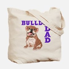 BULLDOG DAD (both sides) Tote Bag