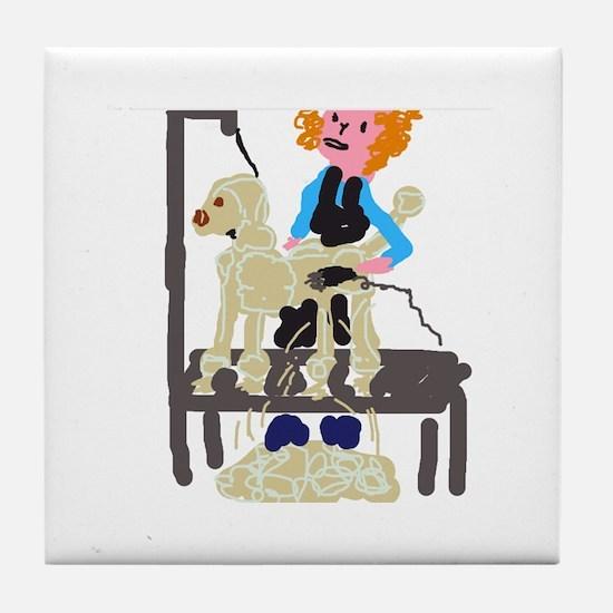 Groomer Tile Coaster