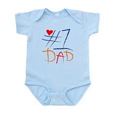 #1 Dad Infant Bodysuit
