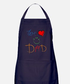 We Love you Dad Apron (dark)