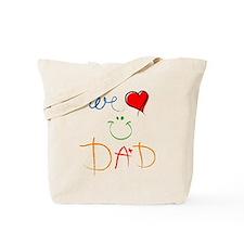 We Love you Dad Tote Bag