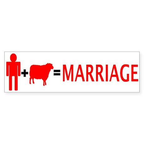 Man + Sheep = Marriage