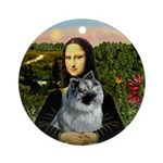 Mona Lisa's Keeshond Ornament (Round)