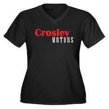 Crosley Motors Women's Plus Size V-Neck Dark T-Shi