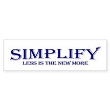 Simplify Bumper Bumper Sticker