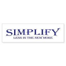 Simplify Bumper Car Sticker