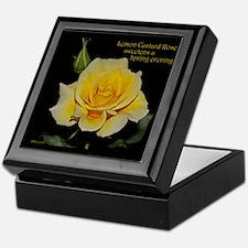 Lemon Custard Rose Trinket Box