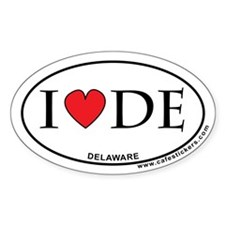 I Love Delaware Decal